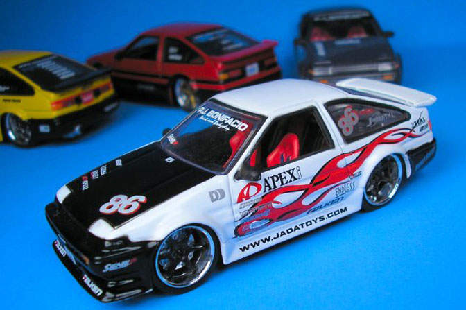 Collectables>>jada 1:55 Scale Ae86's