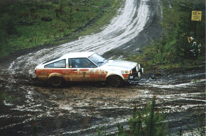 Vintage rally car photos