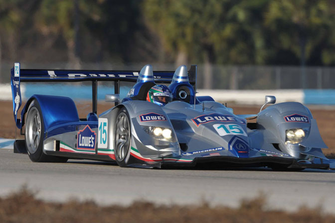 Unlike The Other Acura Teams Lowes Sponsored Team Chose To Stay In LM P2 For 2009