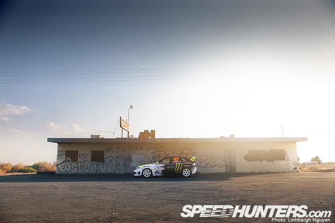 Desktops>> Ken Block, The Subaru, & TheSea