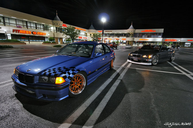 Car Spotlight>>blue On OrangeE36