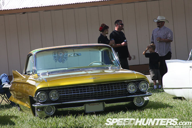 Car Spotlight>>flaked Caddy On The Grass