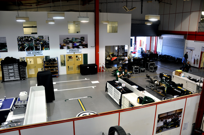 Behind The Scenes>> Team Lotus F1 Factory