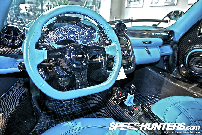 The Interior Of Every Pagani Car Is A Riot Of Dials And Curves U2013 But With  The Bright Turquoise Carried Over To Every Inch Of The Leather Interior I  Think ...