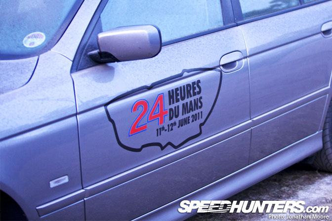 Vinyl stickers are especially prevalent on british cars and range from bumper stickers to full le mans style liveries