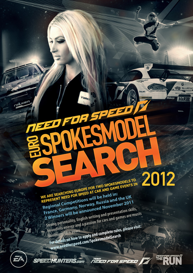 Announcement>> The Nfs Euro Spokesmodel Search Begins