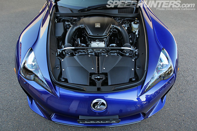 Lexus LFA 4.8L naturally aspirated engine - 560HP