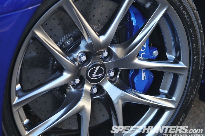 Lexus LFA Forged 20 inch Wheels with Brembo carbon-ceramic Brake disks