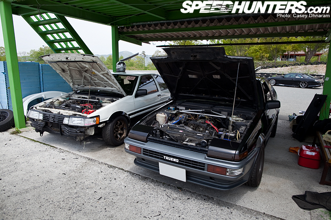Random Snap>> Two Ae86s At BihokuCircuit