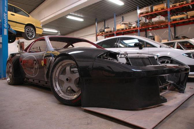 Builds>>an Insane Ferrari 550 DriftCar