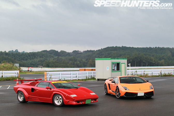 Lamborghini Countach LP5000 and Lamborghini LP560 Superleggera