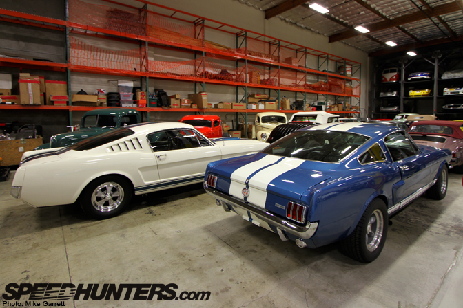 White and Blue Shelby Mustangs GT350
