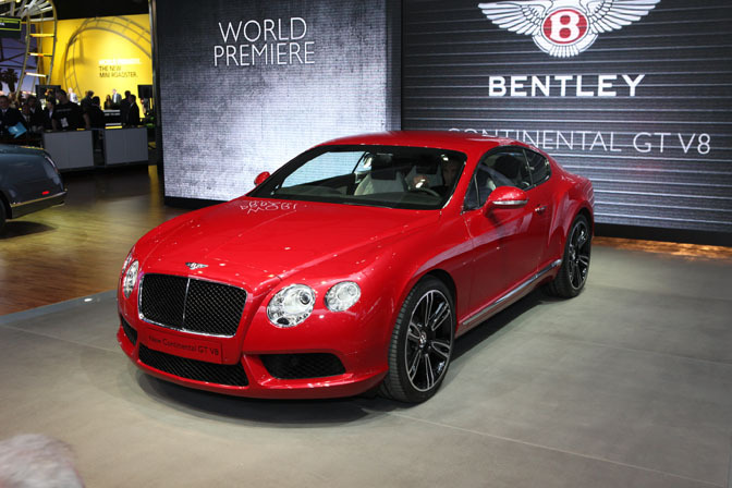 Red Bentley Continental GT V8