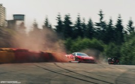 Ferrari 458 crash 1920x1200px photo by Sean Klingelhoefer