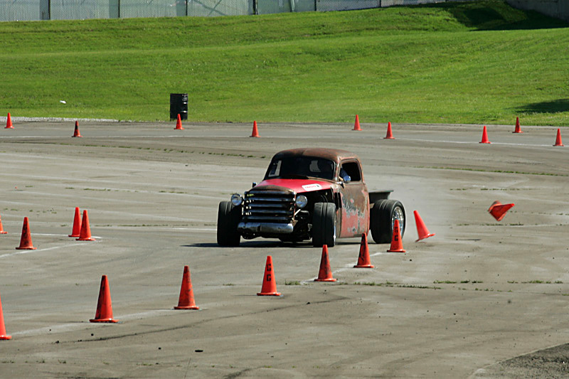 A Cone-shredding '47 Chevy