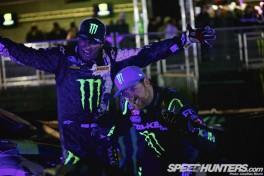 Monster Energy Grid Gymkhana at Santa Pod Raceway's Flame And Thunder meeting, 27-28 October2012