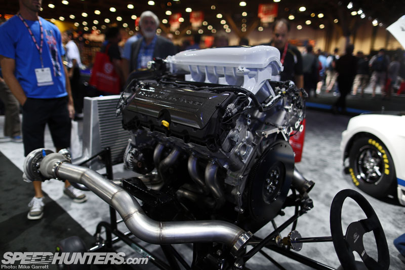 if one single powerplant could be considered the star of this years show that would probably be the 2014 ford mustang cobra jet engine concept - Ford Mustang Cobra Jet Engine