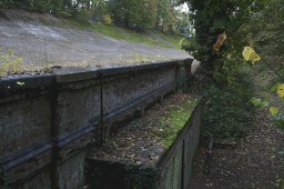 The remains of the Brooklands oval racing circuit, Weybridge, Surrey, United Kingdom