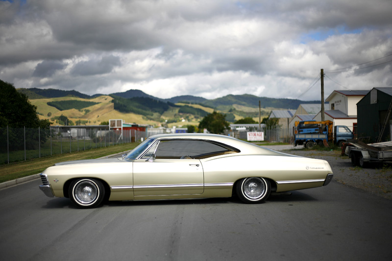 cruising new zealand in a 39 67 impala speedhunters. Black Bedroom Furniture Sets. Home Design Ideas