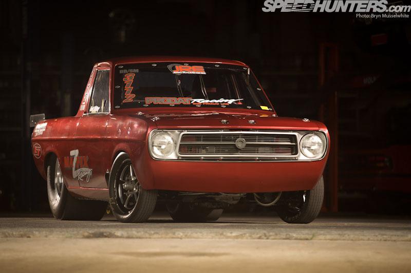 Datsun 1200 w/ rotary engine - YouTube