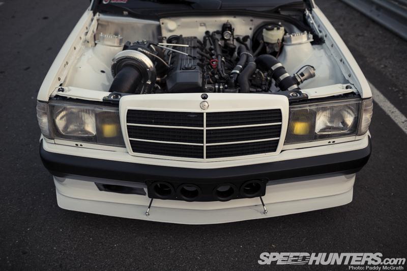 Predictability is dead the turbo mercedes 190 speedhunters for Mercedes benz racing parts