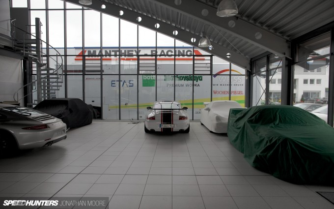 Manthey Racing headquarters on the Gewerbe Park at the Nürburgring Nordschleife, Germany