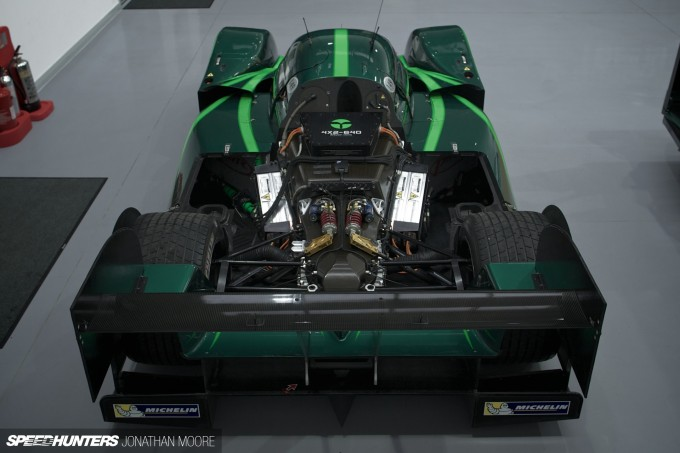 Lord Paul Drayson and the Lola B12/69EV at Drayson Racing Technologies
