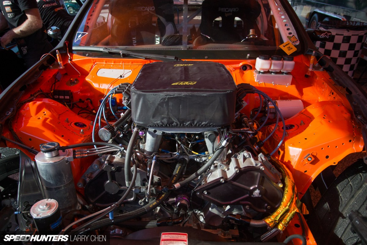 Pick Your Weapon The Engine Bays Of Formula Drift Speedhunters 5 7 Hemi Parts Schematic Larry Chen Engines 35