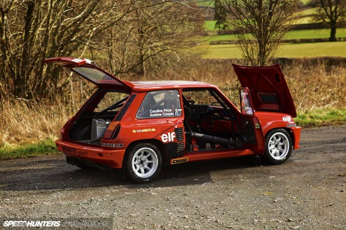 Andrew Cooper's Renault 5 Turbo, prepared by John Price Racing