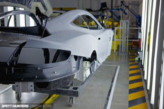 The Aston Martin headquarters and production line at Gaydon in the UK