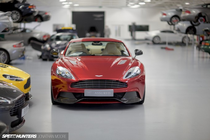 The Aston Martin Heritage Works facility in Newport Pagnell