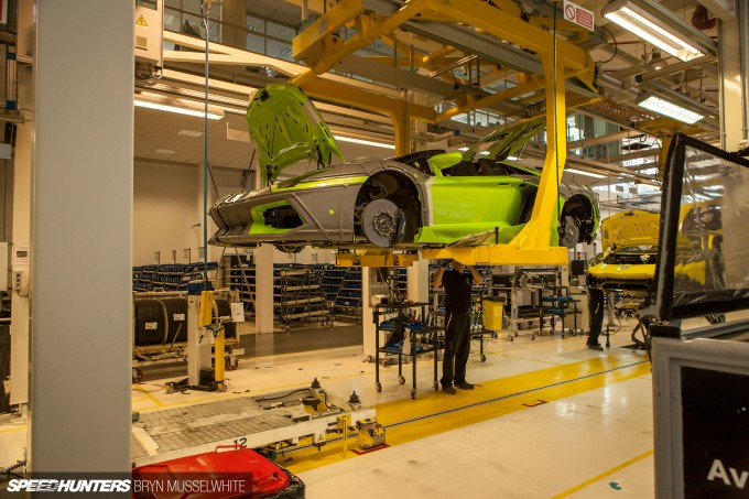 Lamborghini Factory Italy Aventador production line-27