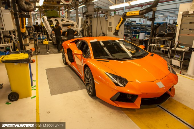 Lamborghini Factory Italy Aventador production line-28