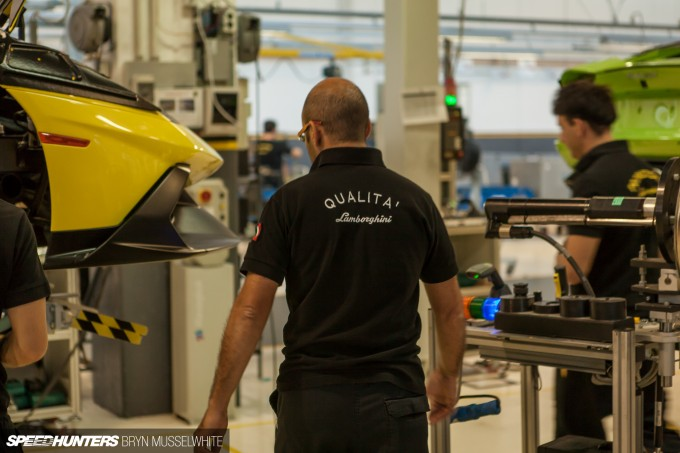 Lamborghini Factory Italy Aventador production line-34