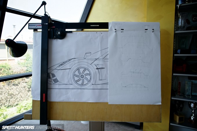 The headquarters of Pagani Automobili SpA in San Cesario sul Panaro, Modena, Italy