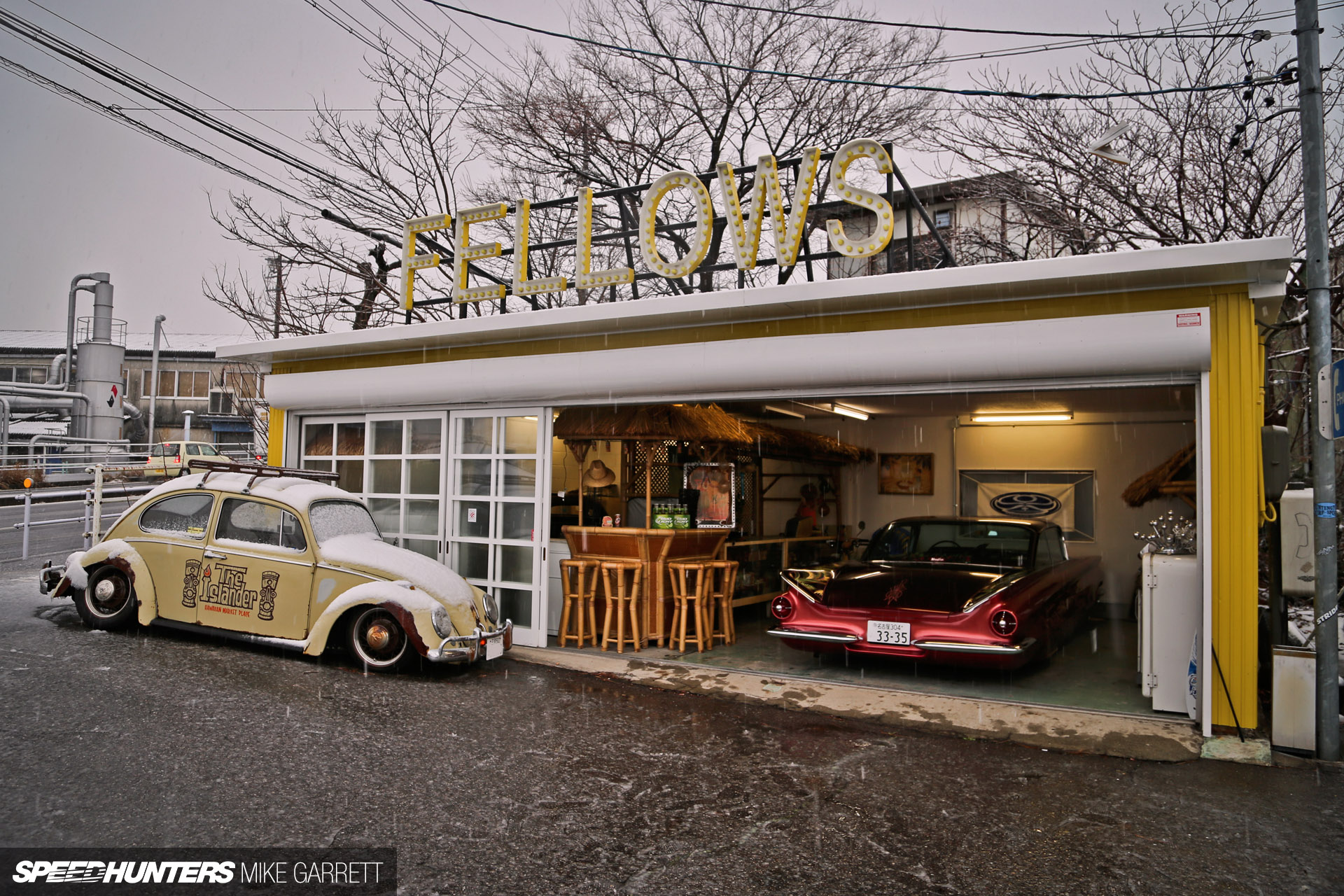 The ultimate car hangout spot speedhunters for Cool car garage ideas