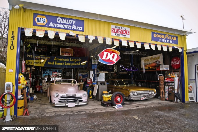 The ultimate car hangout spot speedhunters for American classics garage