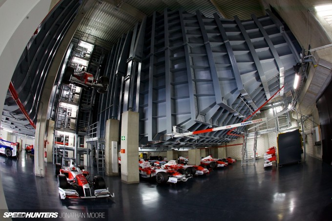 The Toyota Motorsports Group museum at their headquarters in Cologne, located in one of the wind tunnel buildings from their Formula 1 programme
