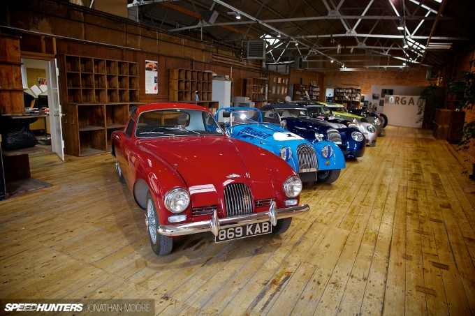 The Morgan Motor Company factory in Malvern, celebrating its centenary of being on this site in 2014