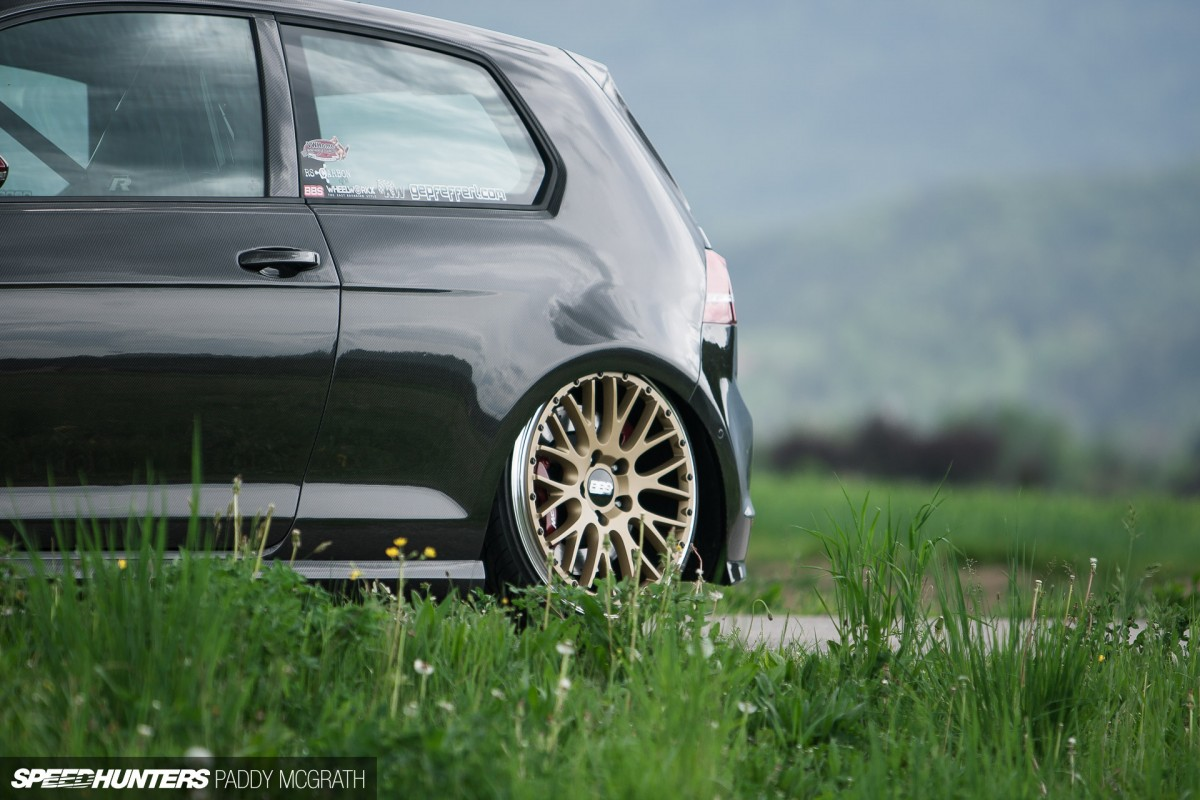 A Carbon Covered & Static Dropped Golf GTI Speedhunters
