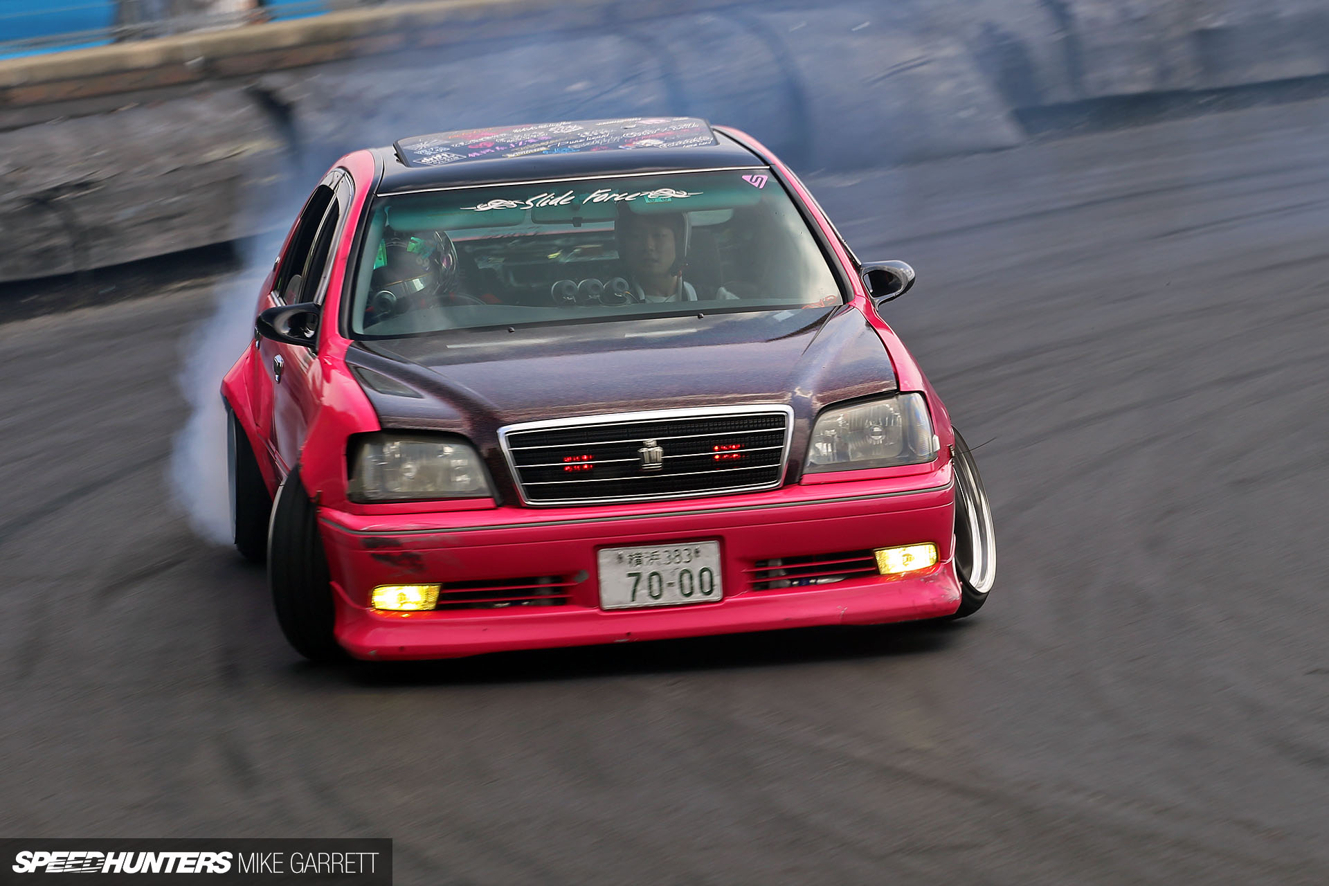 Think Pink Drifting A Japanese Cop Car Speedhunters