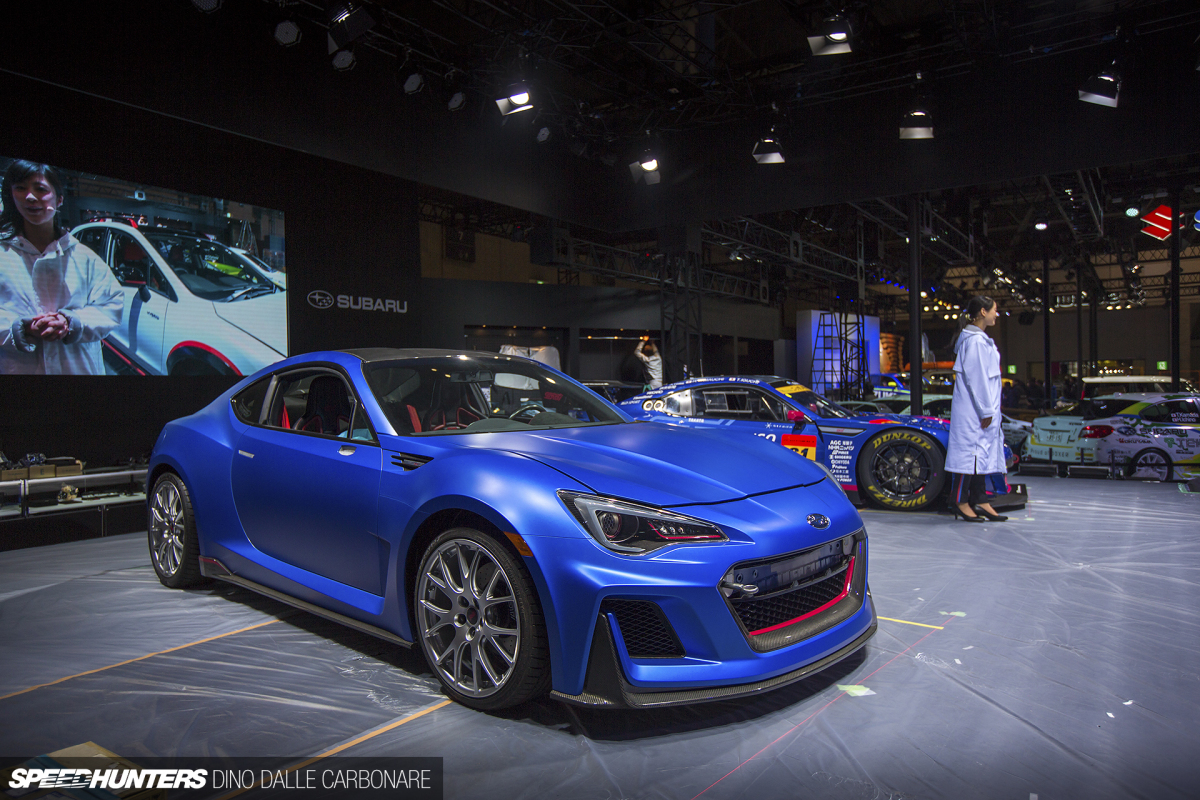 This hot brz wasn t the only cool concept i spotted on the subaru tecnica international display there was also an sti
