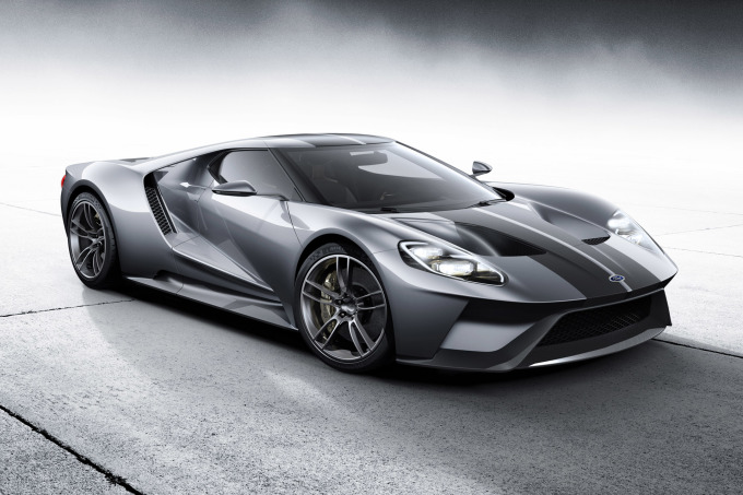 All-new Ford GT in Liquid Silver, L-R, 3/4 Front Shown, February