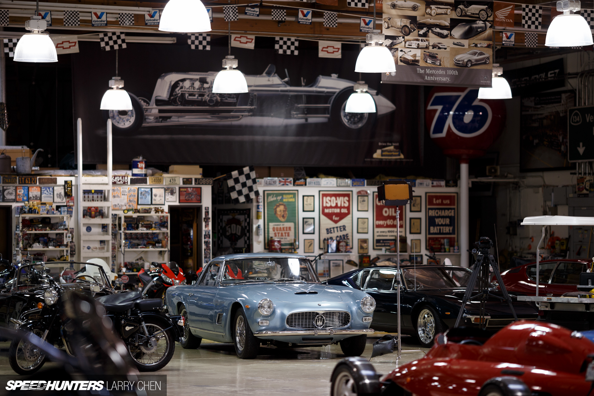 The ultimate hobby shop jay leno 39 s garage speedhunters for Garage with shop
