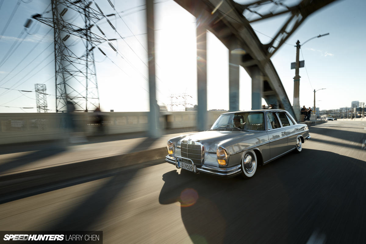 Slammed Elegance: The Perfect Benz Cruiser