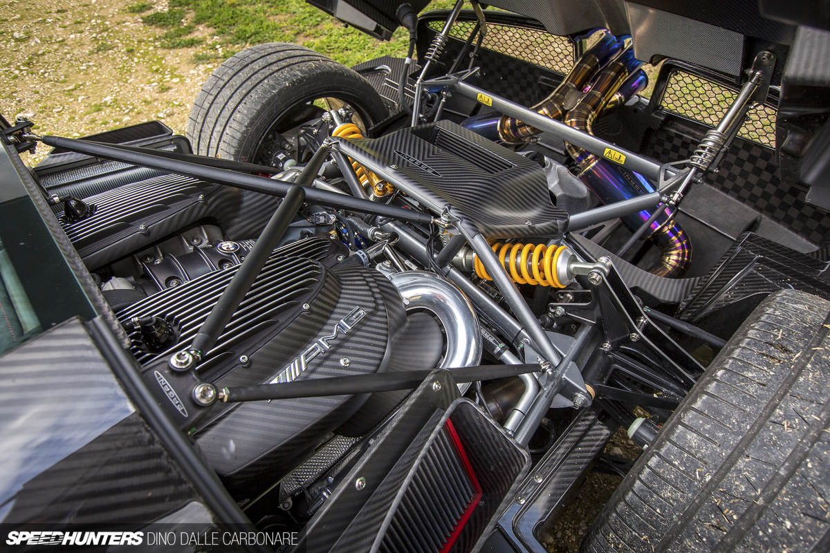 Pagani Huayra Engine Bay