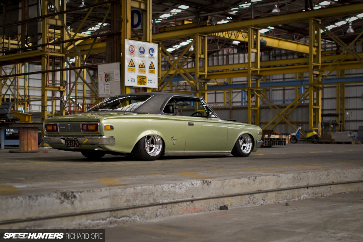 Crowning Around In A Slammed 1960s Toyota