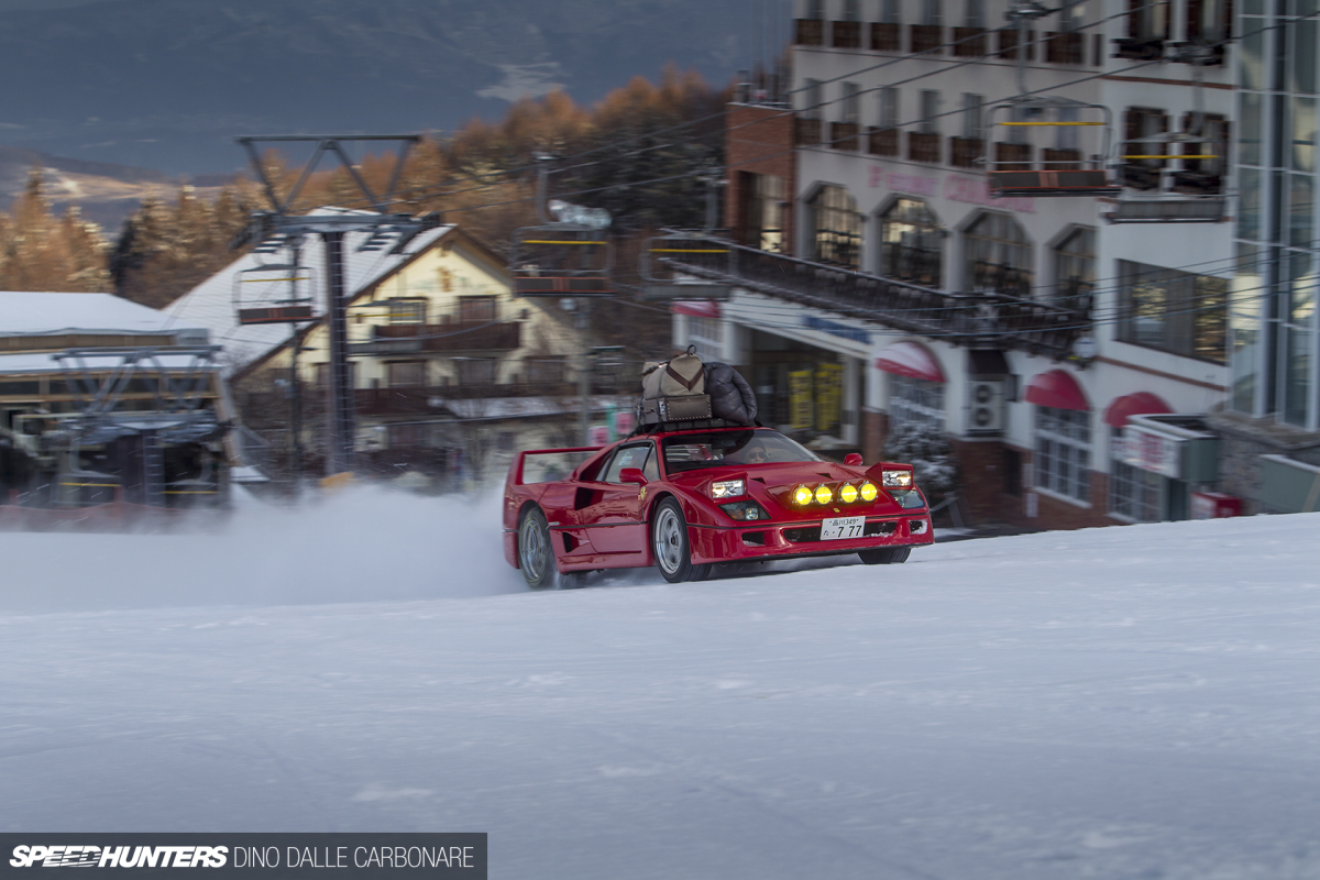 Fun In The Snow… With A Ferrari F40!