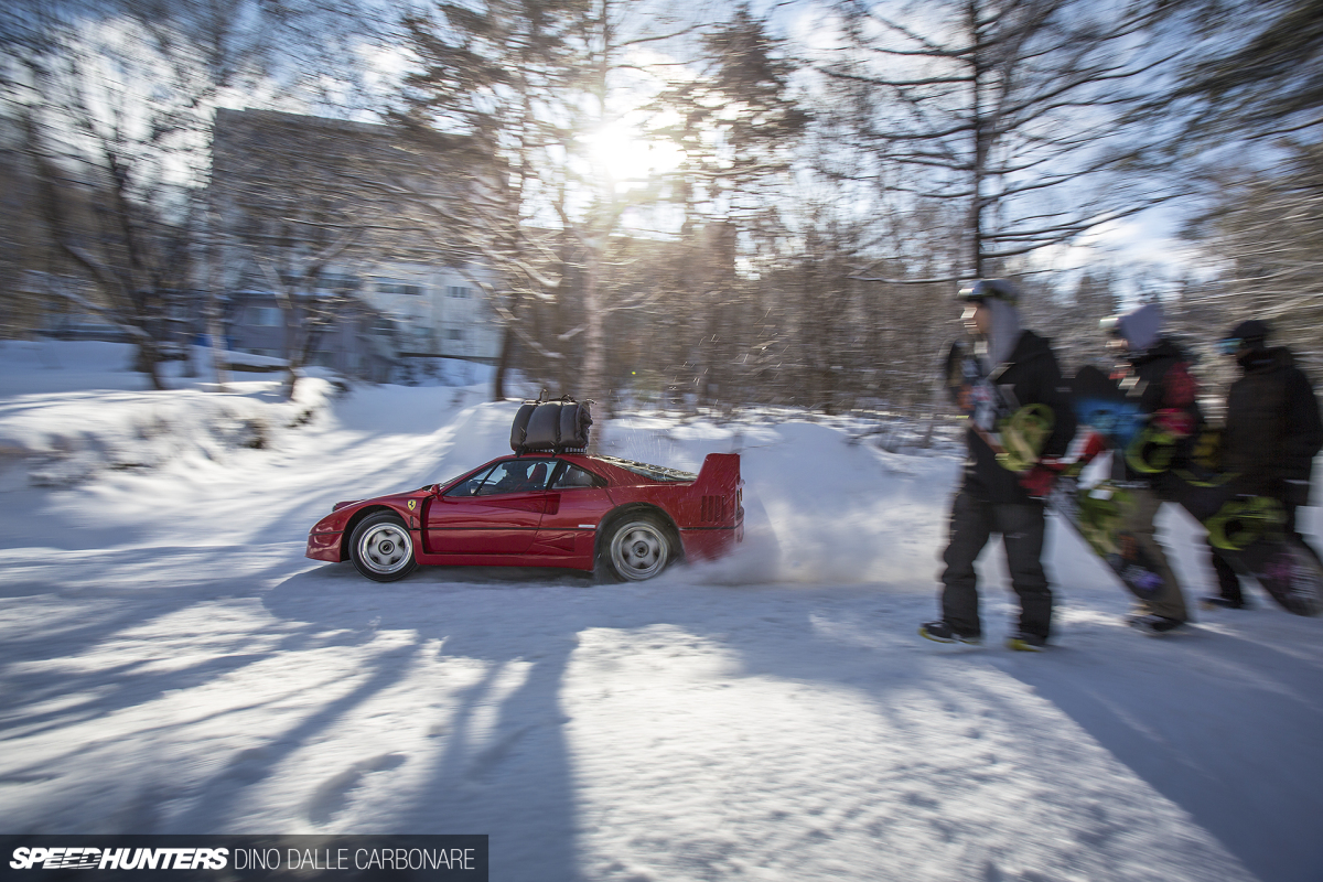 Filming In The Snow With An F40