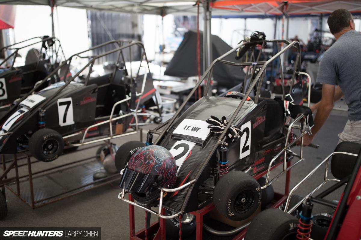Midget race car drivers